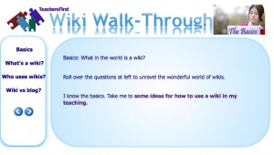 Teachers First: Wiki walk-through